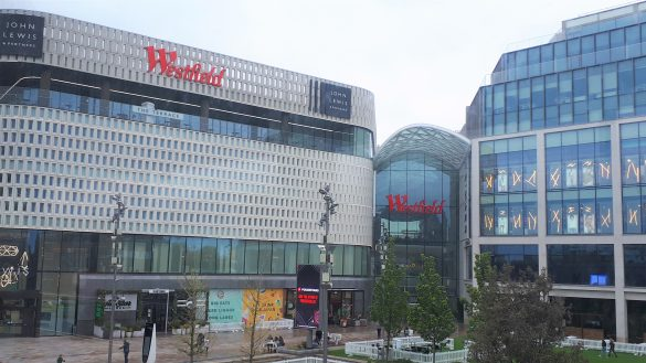 Exterior view of Westfield shopping centre