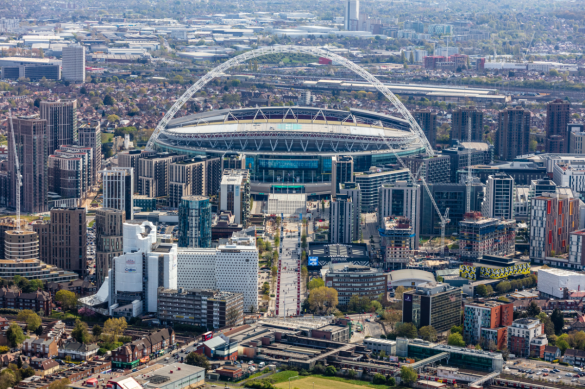 Aerial photo of Wembley, London